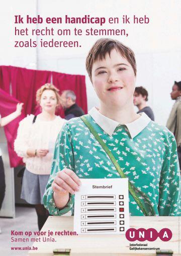 affiche stemrecht mensen met een handicap unia