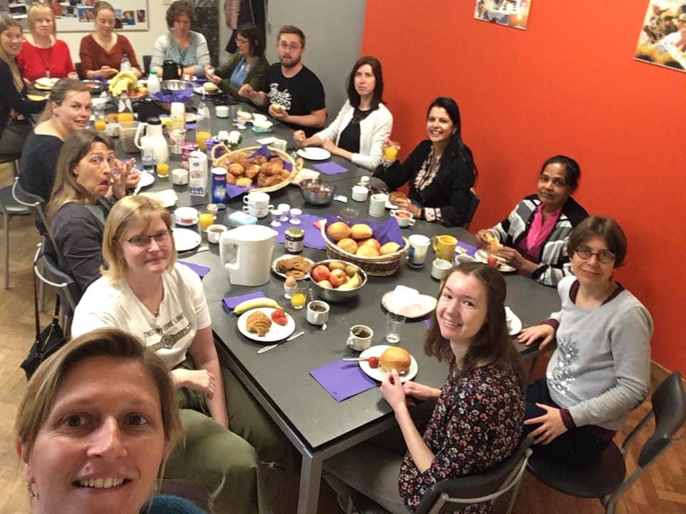 Foto van het ontbijt op de teamdag